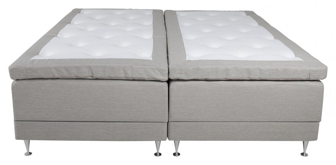 Vansbro Ställbar säng Medium/Medium med 5 komfortzoner, Beige tyg, 180x200  