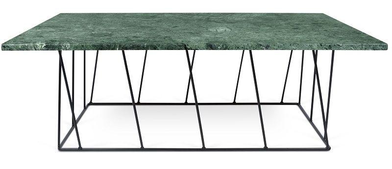 Temahome - Helix Soffbord - Grön m/Svarta ben