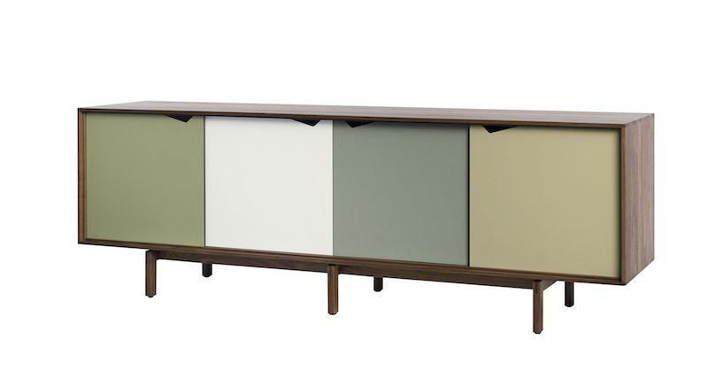 Andersen Furniture - S1 Skänk - Valnöt/Grön