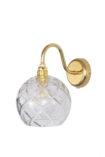 Ebb&Flow - Rowan Krystal Vägglampa, Guld, large check Ø15,5cm