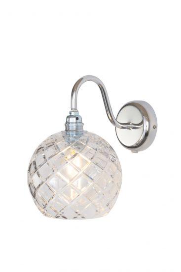 Ebb&Flow - Rowan Krystal Vägglampa, Silver, medium check