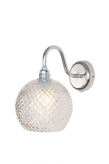 Ebb&Flow - Rowan Krystal Vägglampa, Silver, small check Ø15,5cm