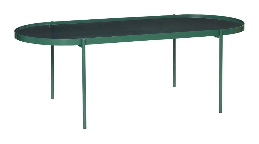 Hübsch Soffbord m. glas - Grön