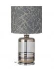 EBB & FLOW  - Pillar Lampfot, platin stripes/smokey grå, Silverbas