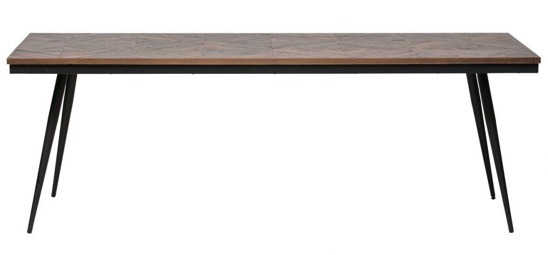 Rhombic Matbord - Teak/metall, 220x90