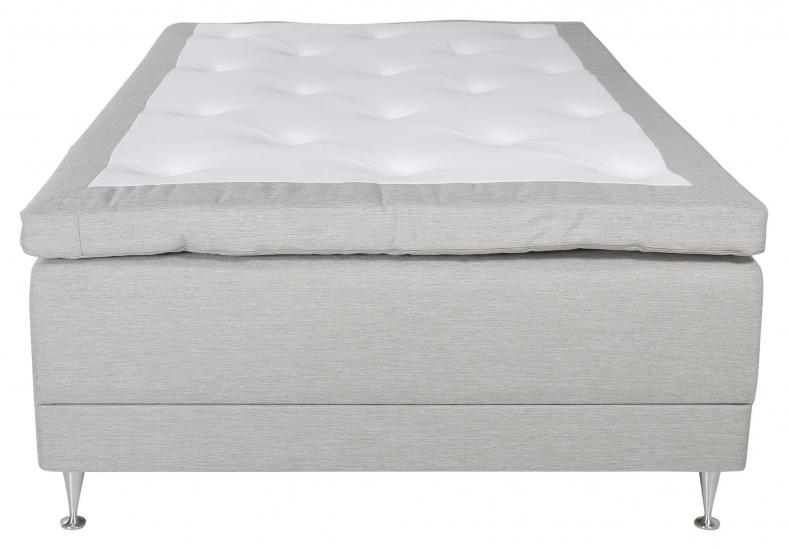 Vansbro Ställbar säng Fast med 5 komfortzoner, Beige tyg, 120x200 