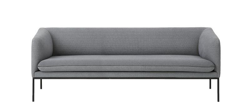Ferm Living - Turn Soffa 3 Bomull - Solid Grå