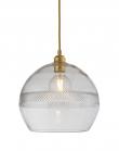 EBB & FLOW  - Check mini stripe Krystal Rowan Pendel m. Guld Ø28