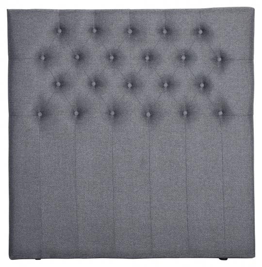 Furuvik sänggavel, Mörkgrått tyg, B:120