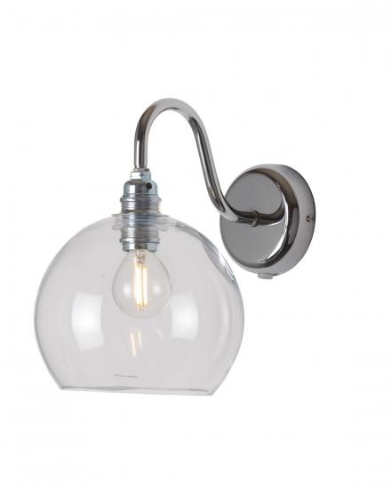 EBB & FLOW  - Rowan Vägglampa, Klar m. Silver, Ø15,5