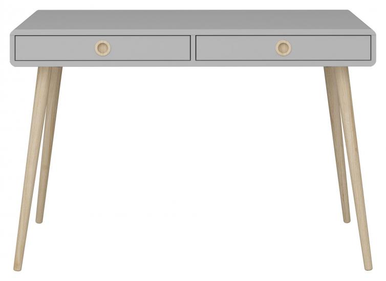 Softline Skrivbord smal med 2 lådor, Grå