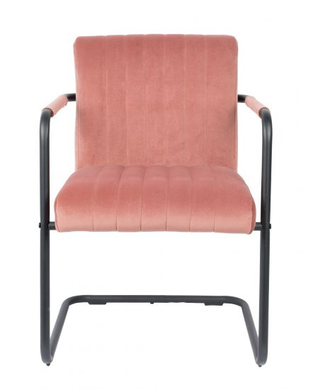 Dutchbone Stitched Matstol - Pink