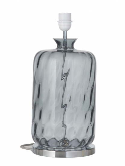 EBB & FLOW  - Pillar Lampfot, smokey grå dimples, Silverbas