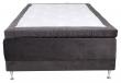 Vansbro Ställbar säng Fast med 5 komfortzoner, Mörkgrå sammet, 120x200  
