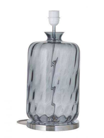 Ebb&Flow - Pillar Lampfot, smokey grå dimples, Silverbas