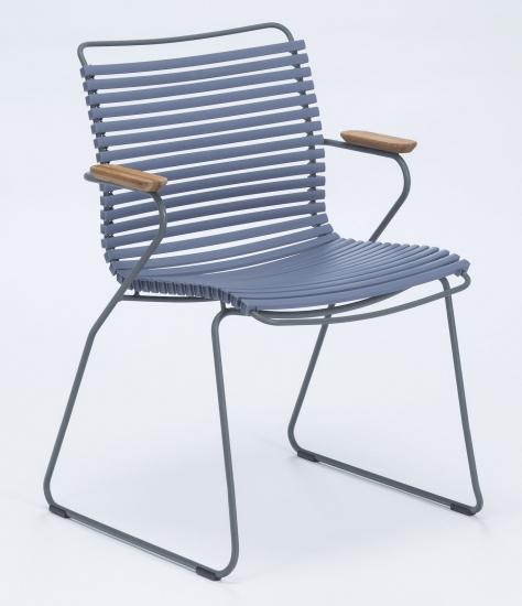 HOUE - CLICK Trädgårdsstol m. armstöd  - Pigeon blue