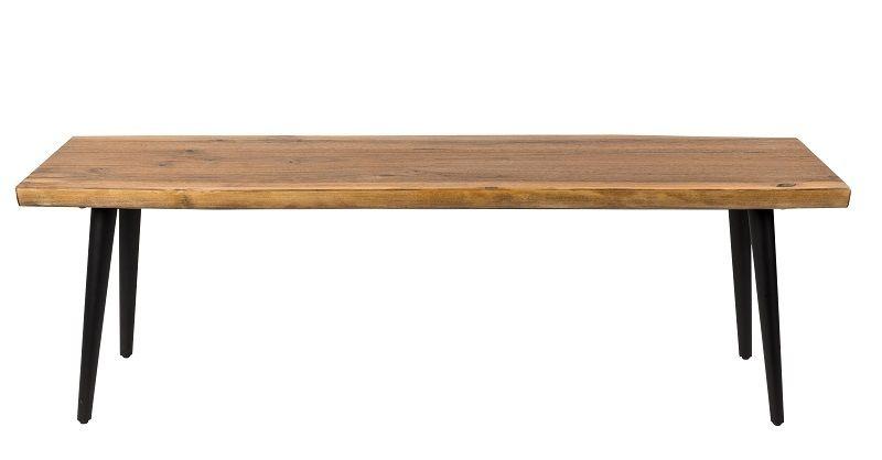 Dutchbone - Alagon Bänk 160x40 - Svarta ben