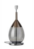 EBB & FLOW  - Lute Lampfot, smokey grå/platin, Silverbas