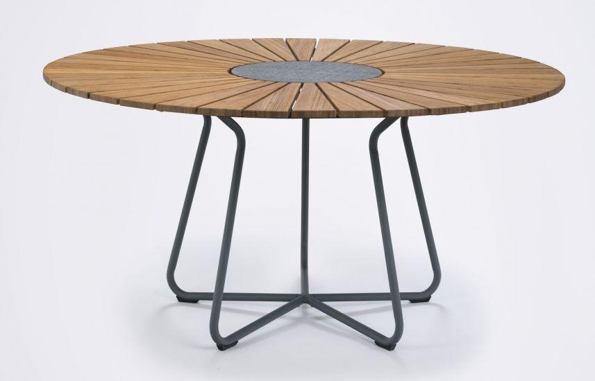 HOUE - CIRCLE Trädgårdsbord Ø 150 - Bambu/Aluminium