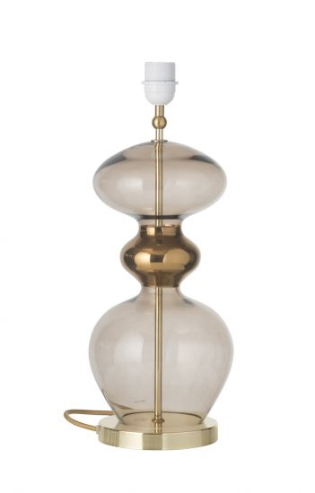 Ebb&Flow - Futura Lampfot, Chestnut, Guld bas