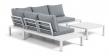 Kave Home Duka Modul Loungeset – Vit aluminium