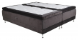 Vansbro Ställbar säng Medium/Medium med 5 komfortzoner, Mörkgrå sammet, 180x200 