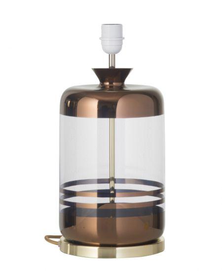 Ebb&Flow - Pillar Lampfot, copper stripes/Klar, Guld bas