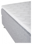 Tällberg Kontinentalsäng Medium/Medium med 5 komfortzoner, Ljusgrått tyg, 180x200 