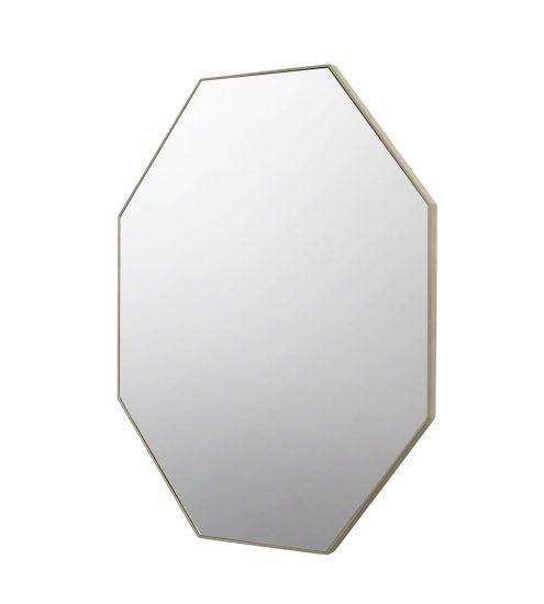 Corner Spegel 8-kantig m. champagne Beige ram