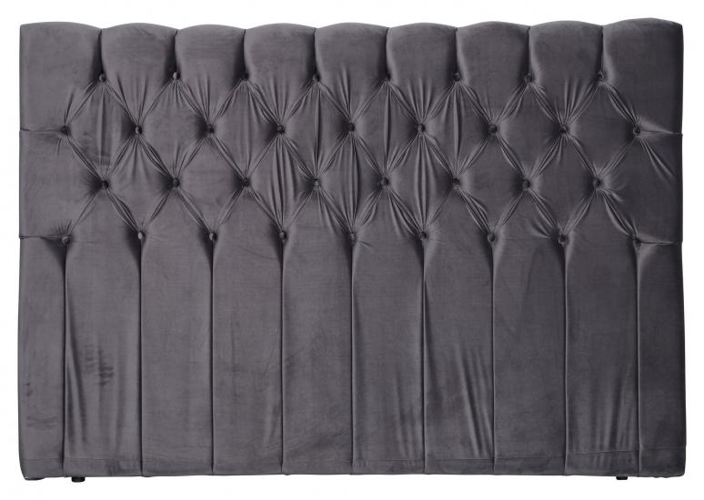 Särna sänggavel, Mörkgrå sammet, B:180  