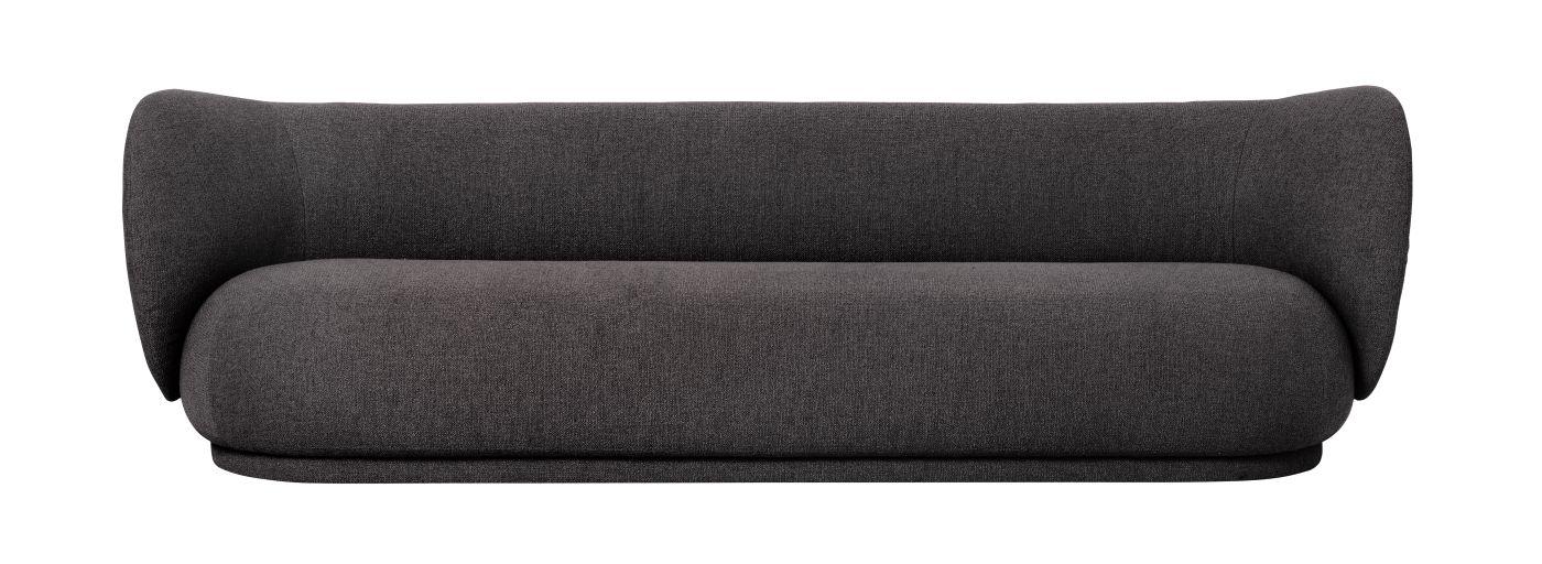 Ferm Living - Rico 4-sits Soffa - Warm grey bouclé