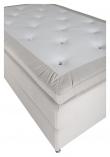 Furudal Kontinentalsäng Medium med 7 komfortzoner, Beige sammet, 120x200 