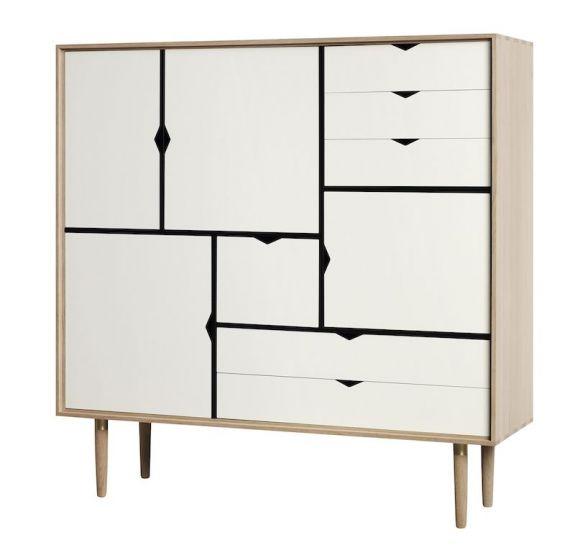 Andersen Furniture - S3 Skänk - Vitoljad ek/Vit