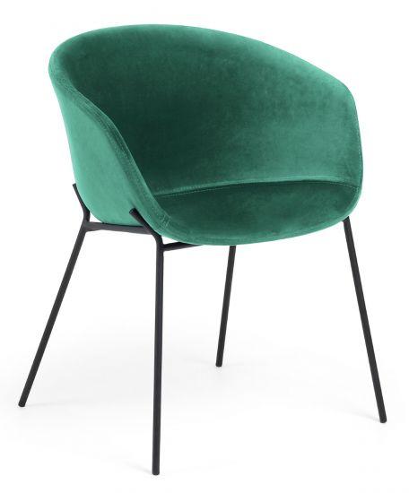 LaForma - Zadine Matstol m. armstöd - grön sammet