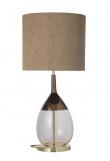 EBB & FLOW  - Lute Lampfot, coral/copper, Guld bas