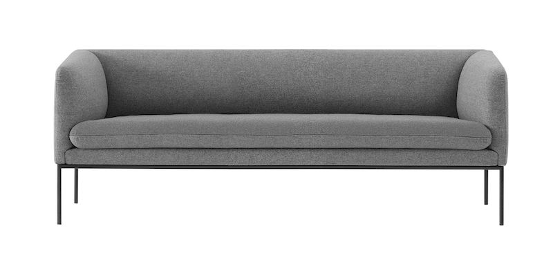 Ferm Living - Turn Soffa 3 Ull - Solid Grå
