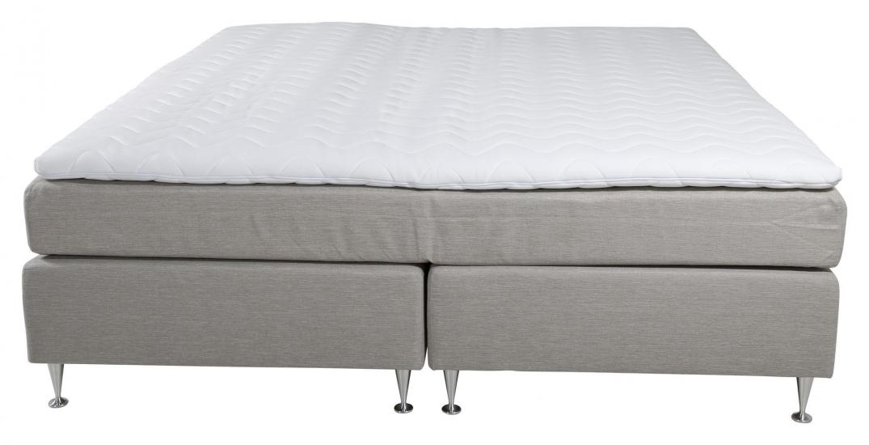 Tällberg Kontinentalsäng Medium/Medium med 5 komfortzoner, Beige tyg, 180x200 