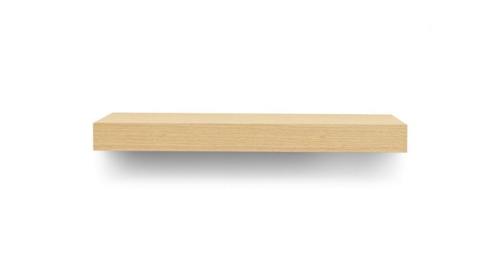 Balda Svævehylde, egefinér, 60x22