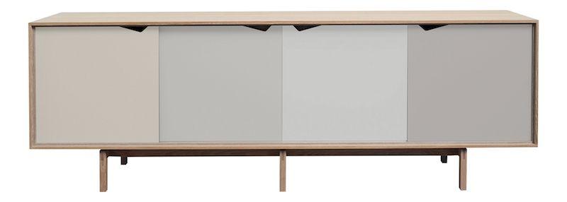Andersen Furniture - S1 Skänk - Såpabehandlad ek - Ocean Grey