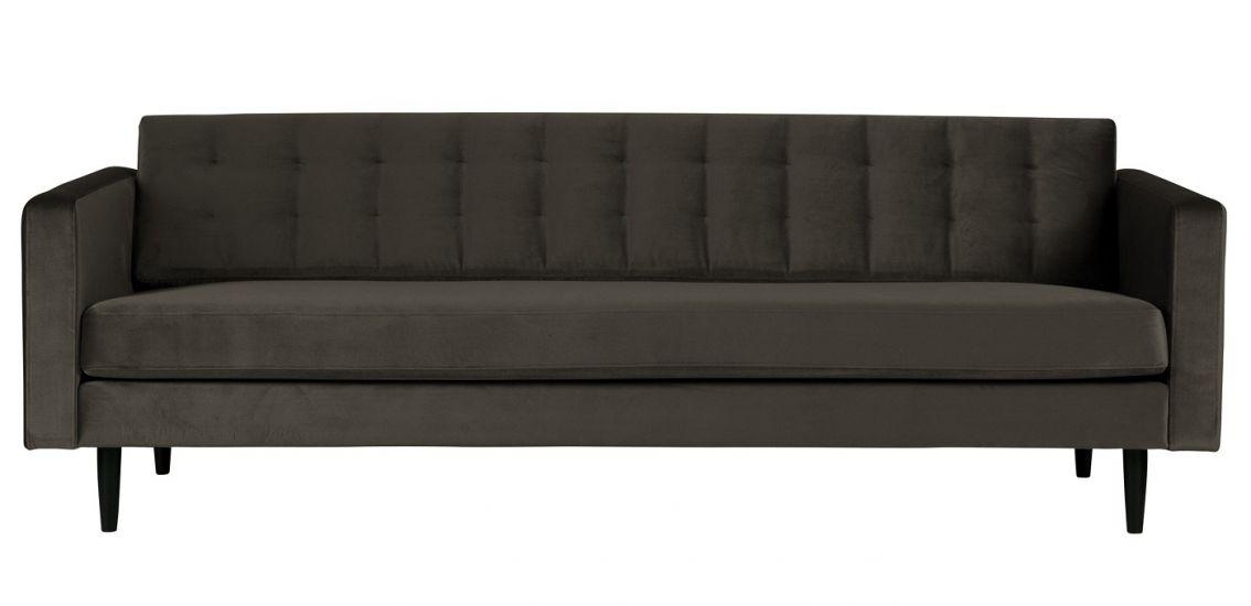WOOOD - Livia 3-sits Soffa i sammet - Warm Green
