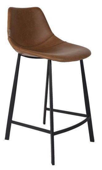Dutchbone - Franky Låg Barstol - Brun PU läder