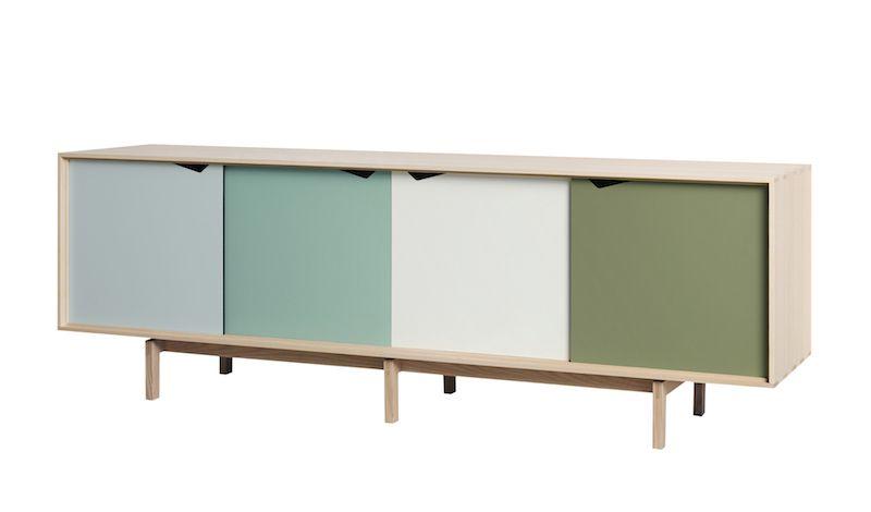 Andersen Furniture - S1 Skänk - Såpabehandlad ek/Grön