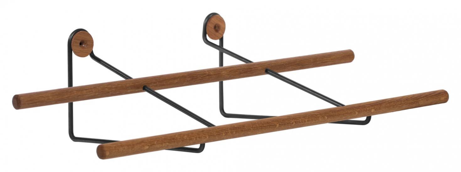 We Do Wood Shoe Rack Small - Ek/Svart