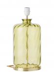 EBB & FLOW  - Pillar Lampfot, olive dimples, Guld bas