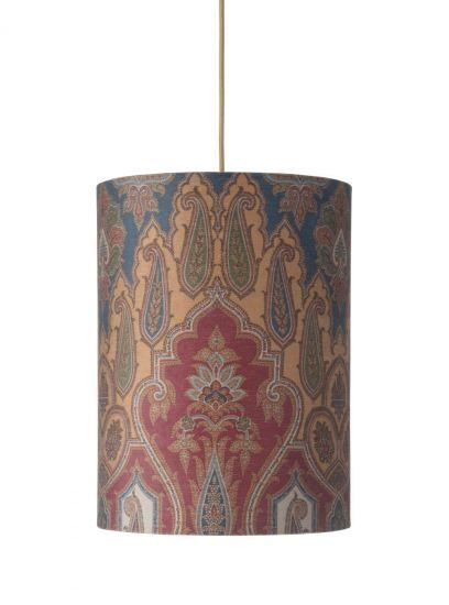 Ebb&Flow - Lampskärm, brocade, blue/red, Ø30, taklampa
