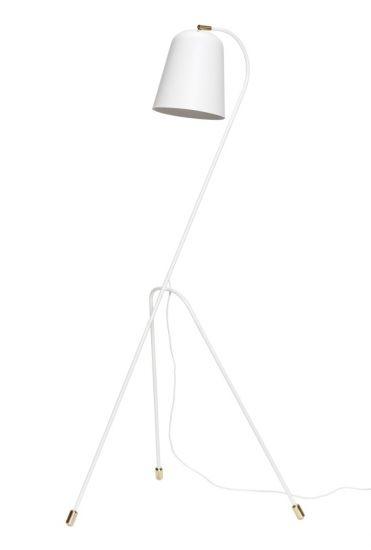 Hübsch Golvlampa H156 - Matt vit