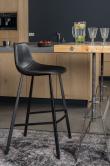Dutchbone - Franky Barstol  - Svart  PU Läder