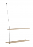 WOUD - Stedge Hylla, Vitpigmenterad ek, 2 hyllor, 80cm