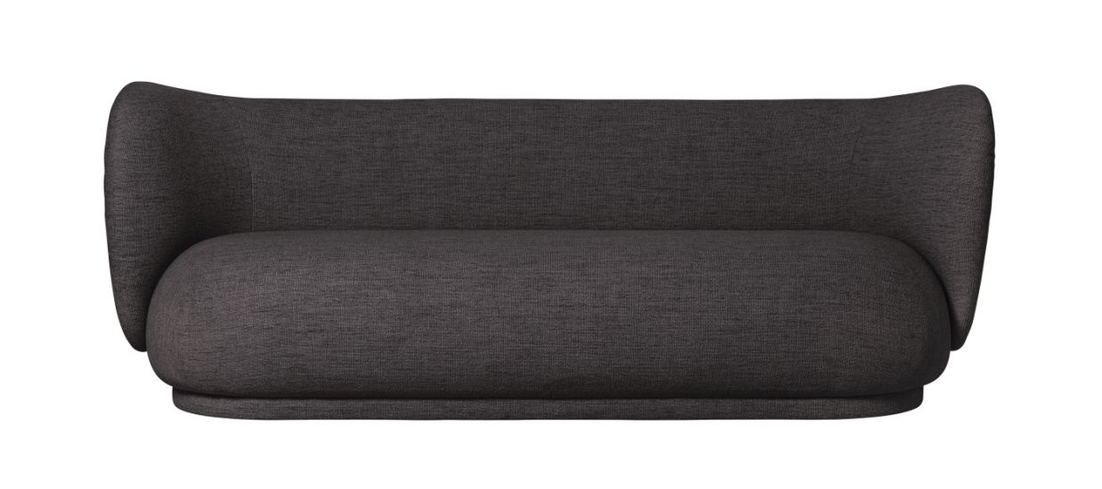 Ferm Living - Rico 3-sits Soffa - Warm grey bouclé