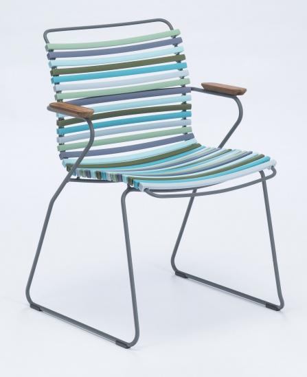 HOUE - CLICK Trädgårdsstol m. armstöd  - Multi pastel